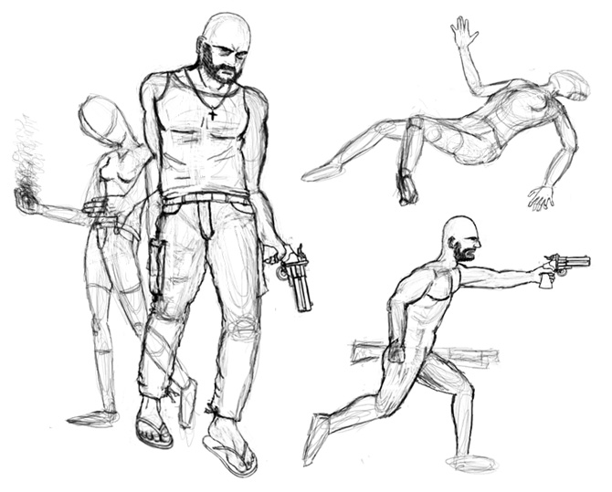 Restless sight concept poses
